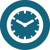 Clock icon representing an after hours doctor service